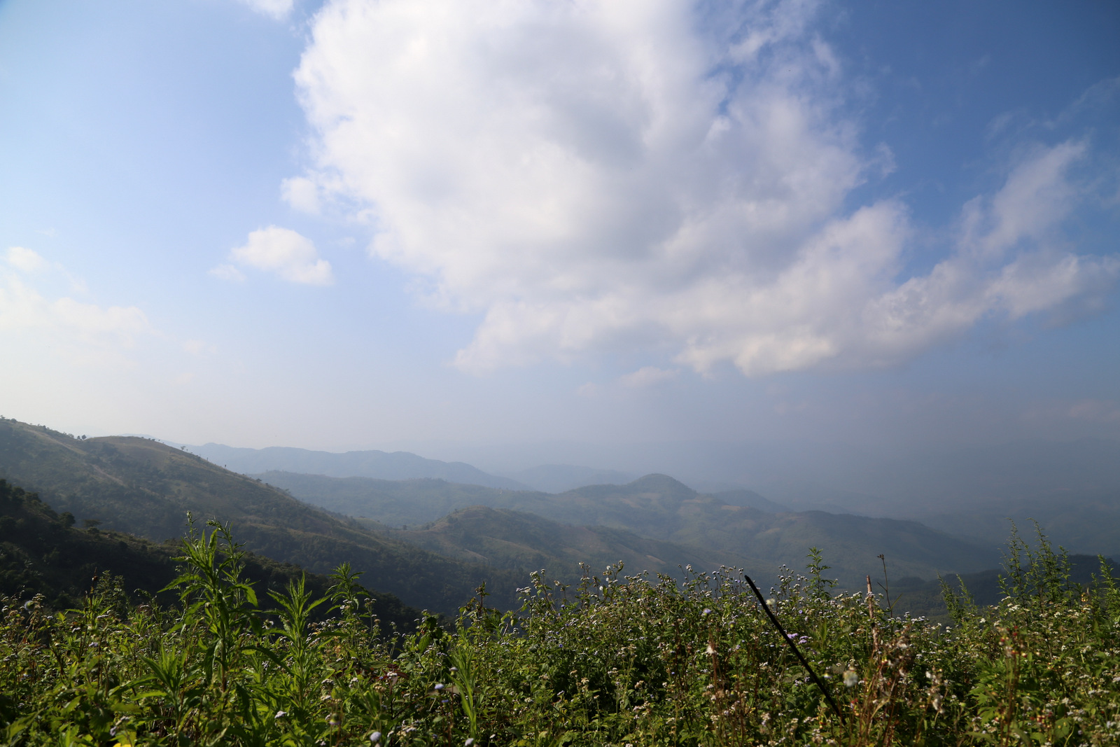 Views across the Myanmar border