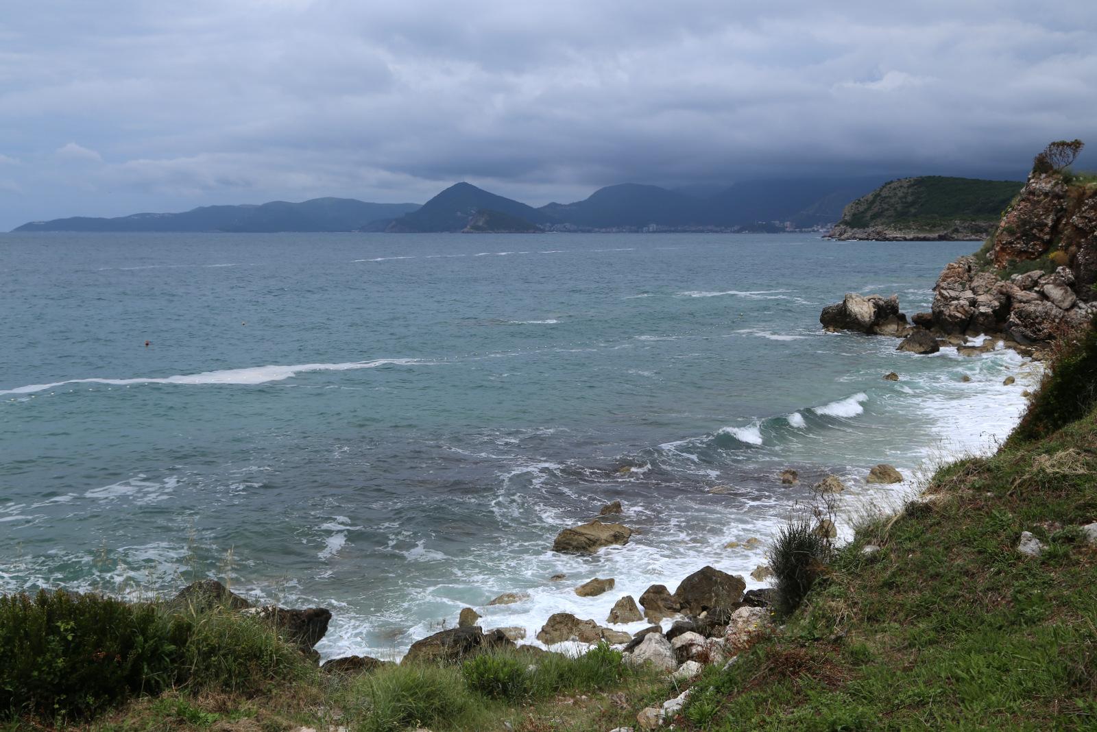 WIld beach below Rijeka Rezevici