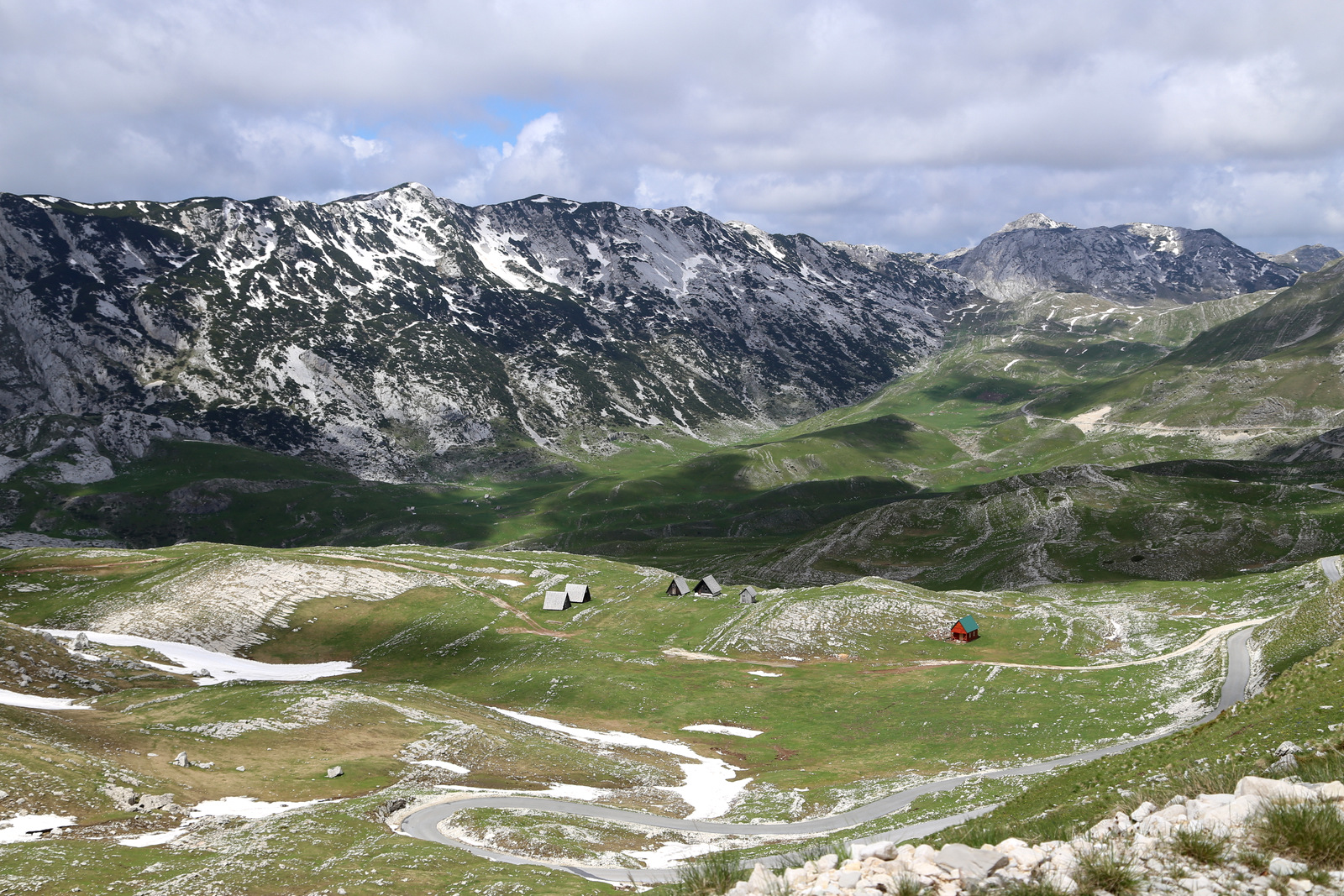 Sedlo pass in Durmitor, 1907 m. high