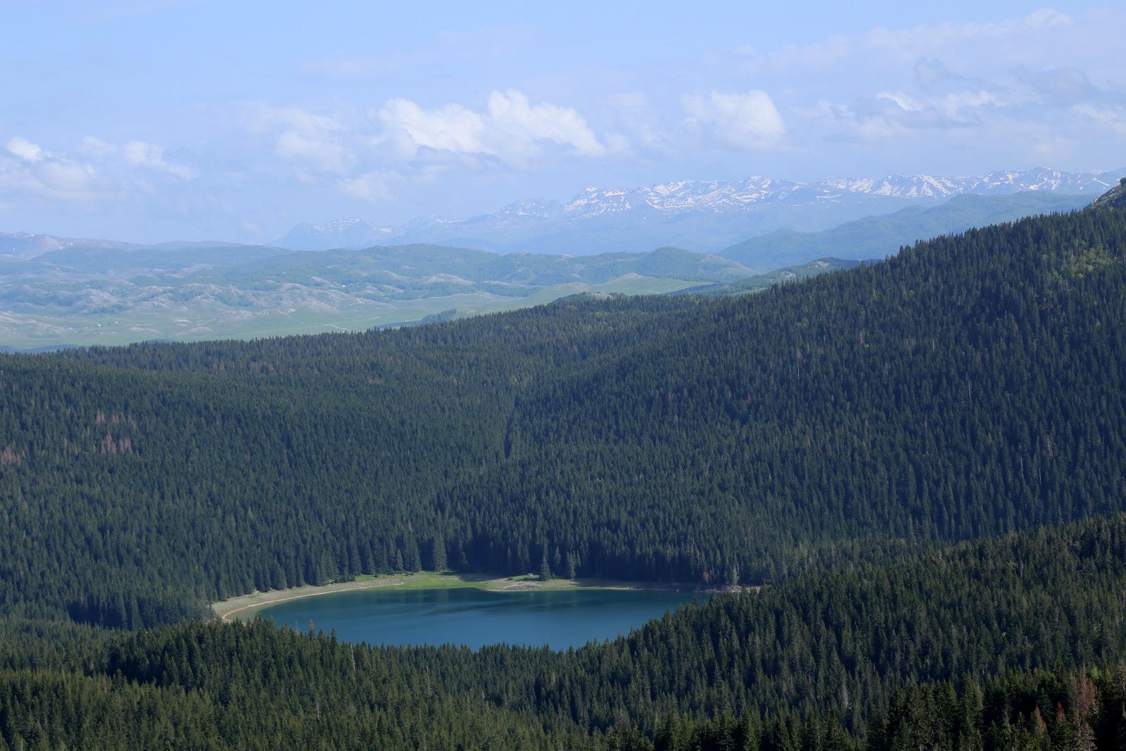 Black Lake from the ridge near Mocilovgrad skilift and restorant