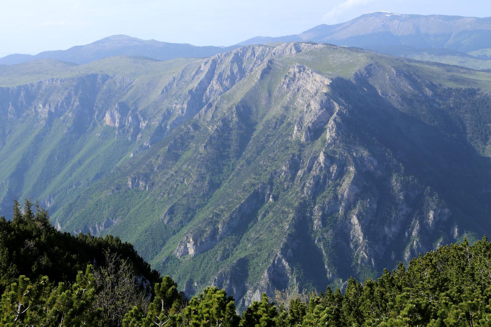 Views of Tara canyon from the narrow twisty road to Crna Gora village