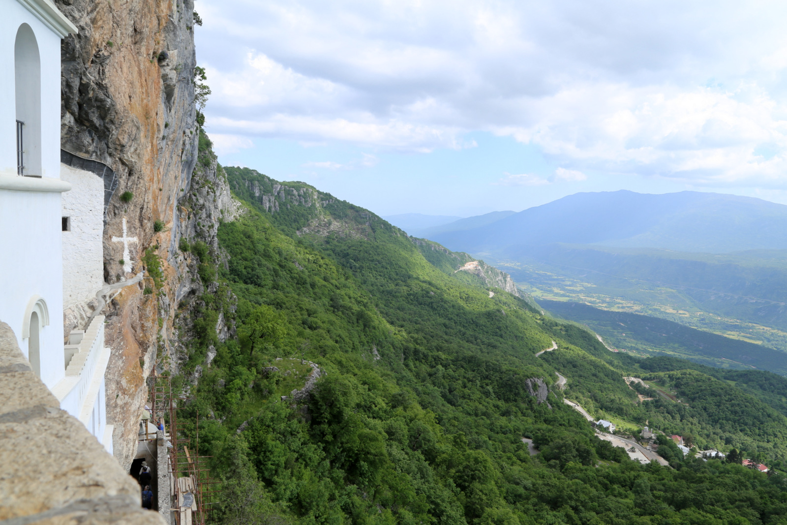 Views from the top balcony at Ostrog monastery