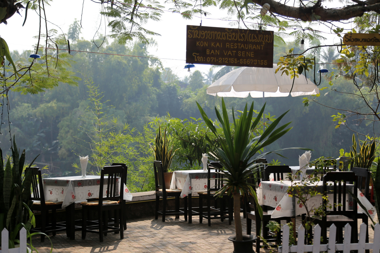 Luang Prabang - We had a very tasty lunch at this riverside restaurant