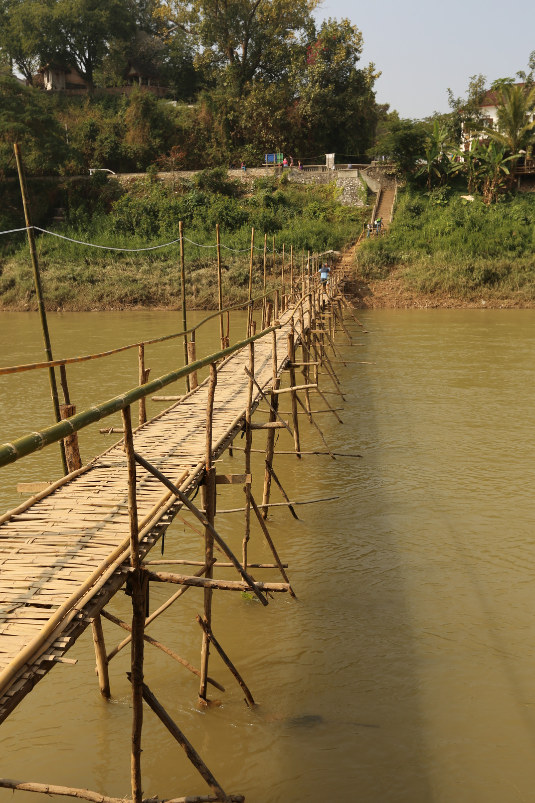 Luang Prabang - Temporary bamboo bridge across Nam Khan river