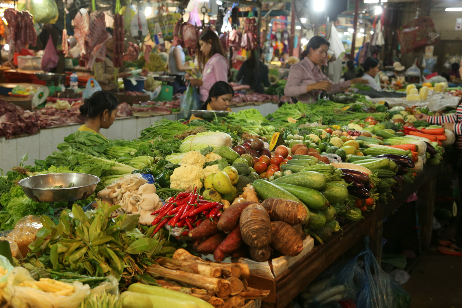 Vegetable market at Siem Reap