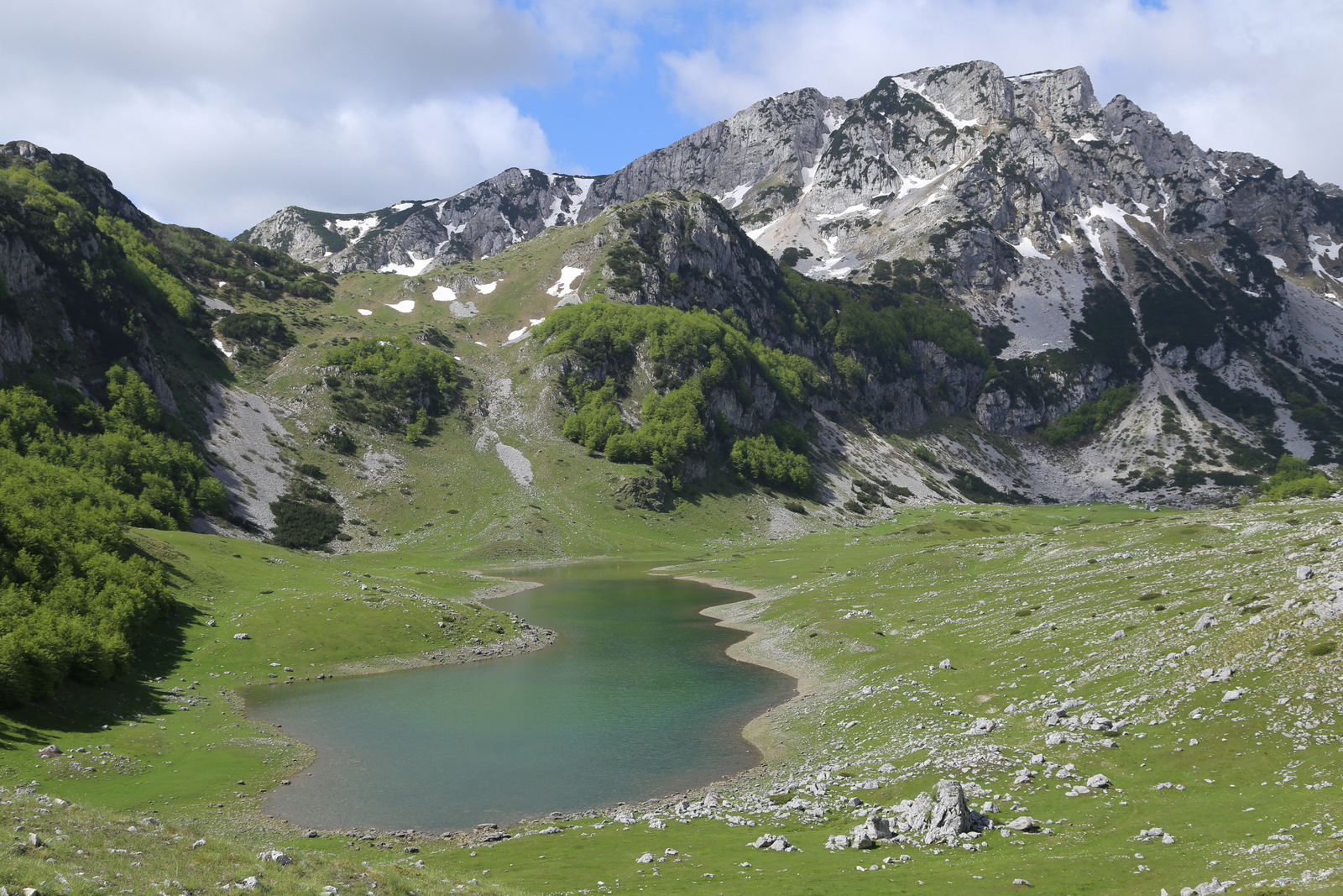 Durmitor, mountain lake near the road from Zabljack to Pluzine