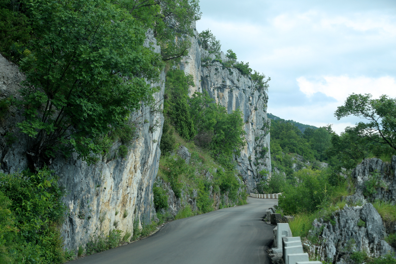 Scary road to Ostrog Monastery