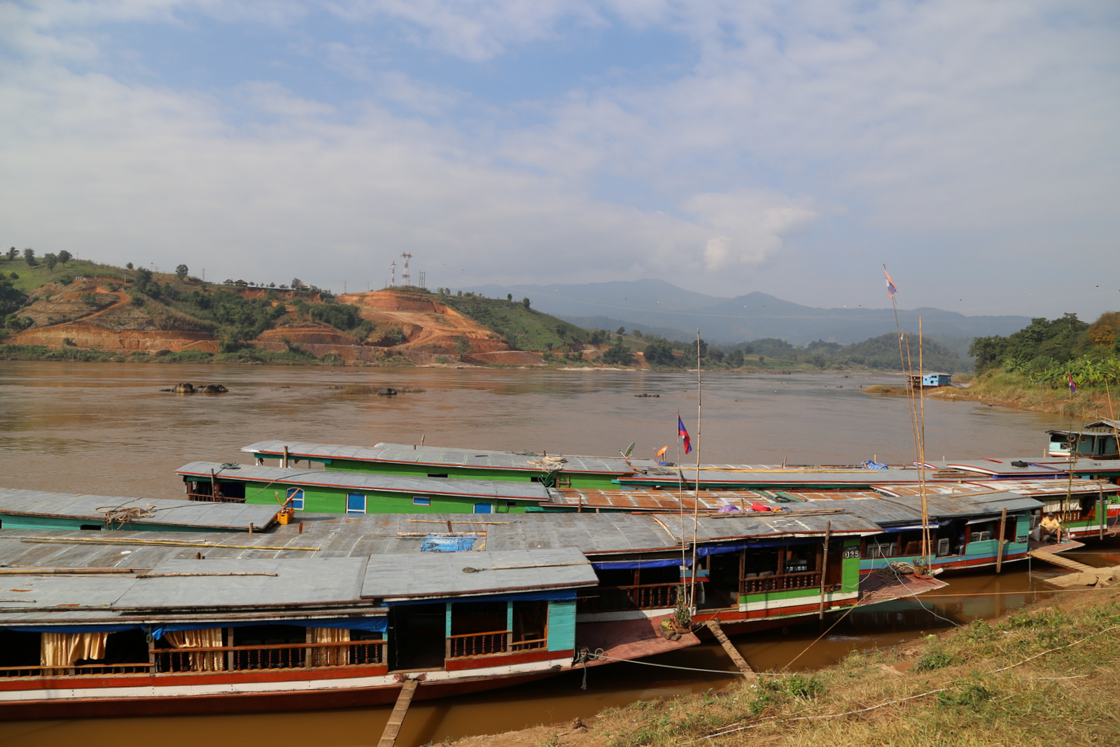 Houei Say, the starting point of the Mekong cruise