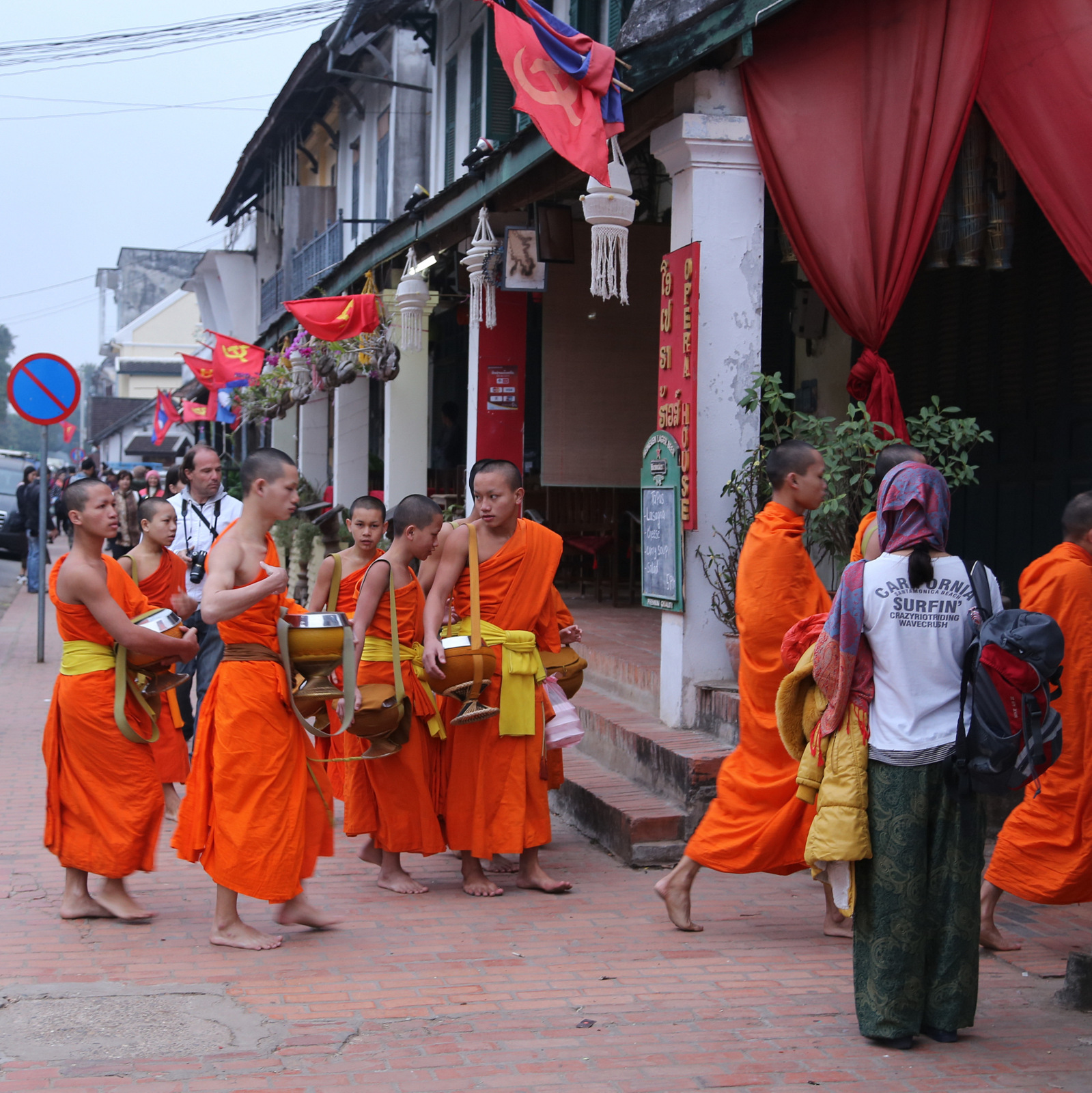 Buddhist and Communist ideals seem to live peacefully side by side in Laos...